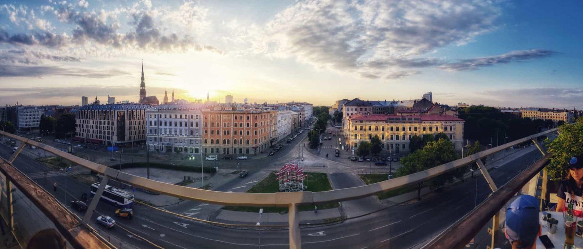 view over Riga from Kino Citadele and bar Vertigo